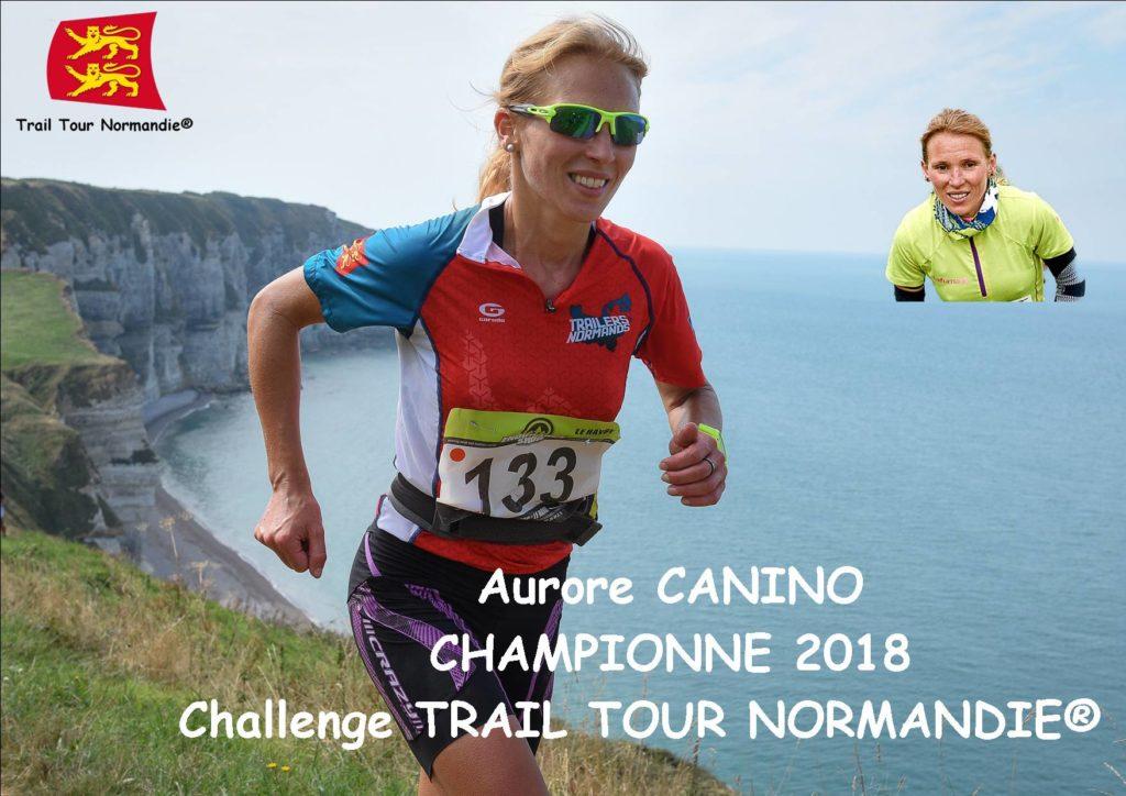 Aurore gagne le challenge Trail Tour Normandie 2018